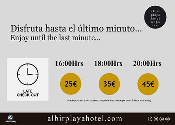 LATE CHECK OUT Albir Playa Hotel & Spa  Alfaz del Pi